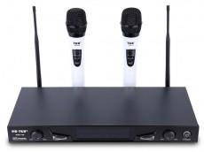 太空舞无线TK-WXD09白色家庭K歌 KTV专业用1拖2无线话筒