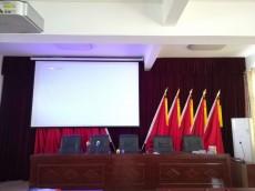 江夏区某机关单位居委会会议室投影幕布案例
