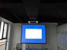 智诚金服会议室投影仪安装