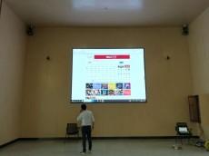 江夏庙山国际广场LED显示屏安装