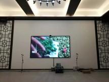 武汉江夏客户显示屏安装图
